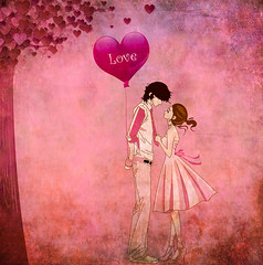 Love Is All Around (Swissrock-II) Tags: challenge valentine love heart balloon photoshop photoshopart pink 2020 february
