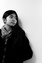 (steveannovazzi) Tags: milano passenger girl ragazza italia milan portrait candid metro publictransport blackandwhite bn bw nb stranger teenager younggirl stolen