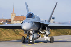 Swiss Air Force, McDonnell Douglas F/A-18C Hornet, J-5002. (M. Leith Photography) Tags: add tags swiss air force jet mcdonnell douglas fa18c hornet switzerland sunshine military plane mark leith photography nikon d7000 70200vrii nikkor aviation cockpit payerne