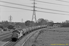 South Wales Oil Delivery (Don Gatehouse) Tags: britishrail br class370 37042 trainload oil tanks cardifftidal llanwern freight englishelectric type3 güterzug fret