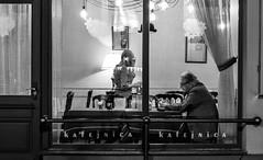 Cafe with a twist (JaaniicB) Tags: canon 77d eos 40mm f28 prime lens street photo reflection window riga latvija latvia eu europe mirror moment catch