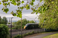 From the grassy knoll (Nodding Pig) Tags: bedminster bristol victoriapark railway train england greatbritain uk 2019 class802 bimode multipleunit iet hitachi at300 802114 gwr greatwesternrailway 201906051835102