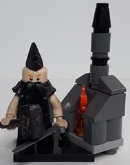 THORWALD THE BLACKSMITH (krisdecatte) Tags: lego custom minifigurines medieval crafts