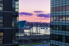 Amsterdam between buildings. (Luca Livio) Tags: landscape city sunset europe holland netherlands amsterdam