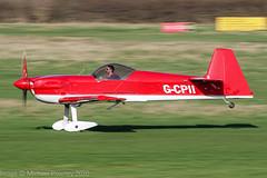 G-CPII - 1988 build Avions Mudry CAP-231, rolling for departure on Runway 26R at Barton (egcc) Tags: 07 aerobatic avionsmudry bakhtiari barton capaviation cap231 cnabj cityairport deihh egcb fgshh fwqol gcpii lightroom manchester