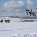 An MV-22B Osprey drops off U.S. Marines and members of the JGSDF for a heliborne insert
