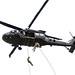 A UH-60 Blackhawk flight crew supports the Lightning Academy Air Assault Course