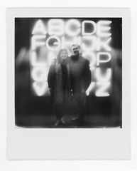 Ghostly Figures (scottboms) Tags: gdp godfreydadichpartners neon signs polaroids sx70 sanfrancisco california bw
