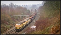 NMBS 5539 + 5537 @ Beersel (Steven De Haeck) Tags: beersel vlaamsbrabant belgië belgique lijn26 nmbs sncb tucrail hld55 leuven quenast goederentrein freighttrain güterzug ballast ballasttrein trémies