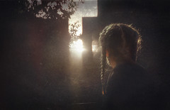 Symptoms of enlightenment (andredekok) Tags: girl meditation contemplation sundown twilight monochrome texture awareness flies dancing