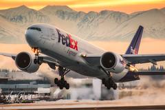 Alaska Blastoff (Angelo Bufalino - Avstock.net) Tags: boeing 777 777f anchorage alaska