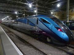 Night time at Edinburgh Waverley - Class 802 bimode (calderwoodroy) Tags: station train scotland edinburgh railwaystation bimode class802bimode waverleystation edinburghwaverley 802213 first transpennineexpress
