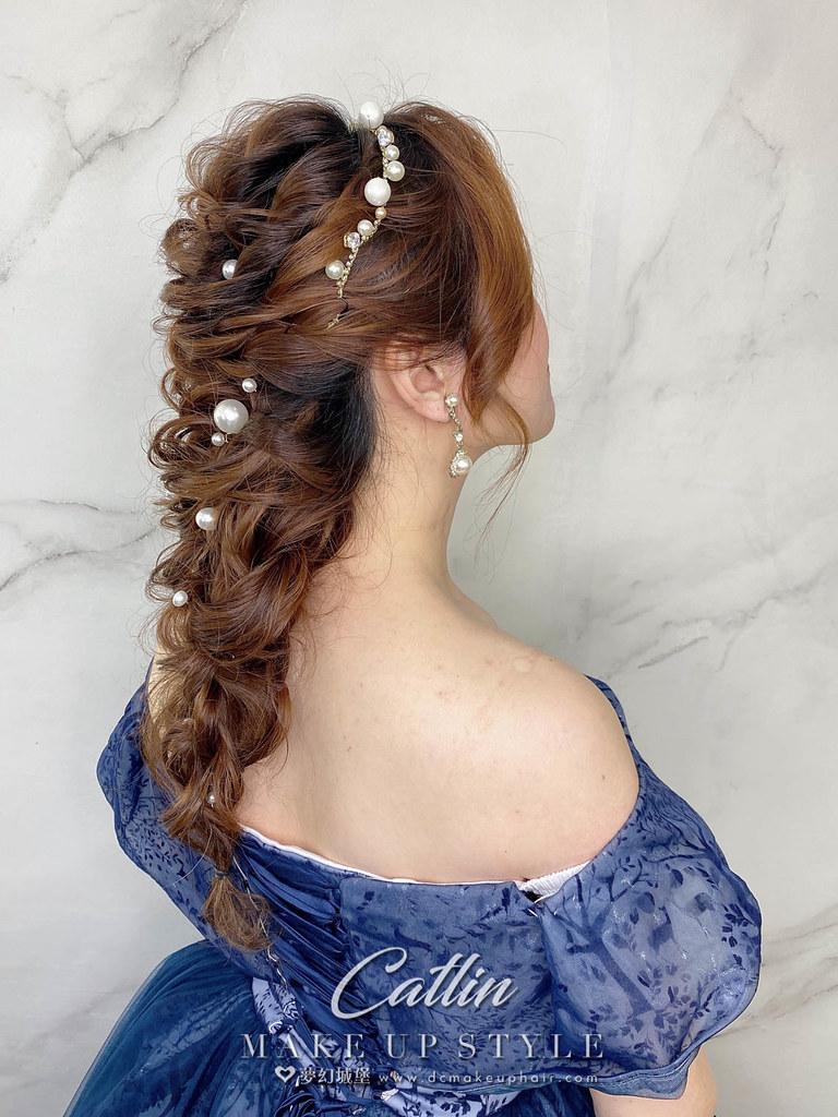 【新秘Catlin】新娘造型創作 / 浪漫韓系編髮