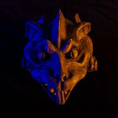 Gargoyle_DSC0482 (GmanViz) Tags: gmanviz color sonya6000 gargoyle studio strobist gels