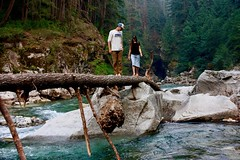 Watch your step (joannefunke) Tags: nature naturalworld natural plants earth britishcolumbia water lake river greenwater rocks canoeing landscape people couple explore world travel outside