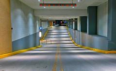 En voiture, s'il-vous-plaît! (Robert Saucier) Tags: boston garage parking parkinglot night nuit jaune yellow auto car img1820