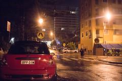 Through a windscreen wetly (OzzRod) Tags: pentax k1 supertakumar35mmf35 night rain wet streetlights car pedestrian city dailyinfebruary2020 newcastle