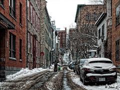 Les joies de l'hiver (Jean S..) Tags: street winter buildings cars people windows city urban old tree