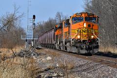 Rolling grain on the K line, (Shane692) Tags: bnsf burligrton bn bnsfkline ge dash9 railroad railfanning railroads rails railfans rail row railroading railfan