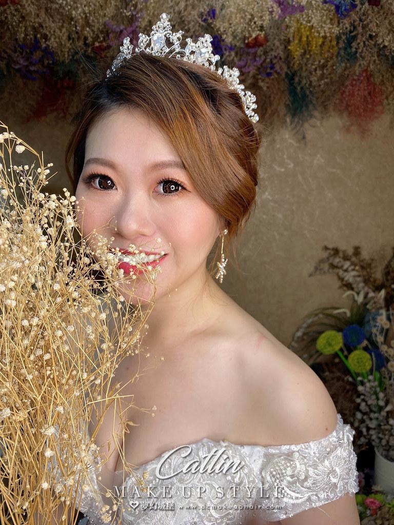【新秘Catlin】新娘造型創作 / 公主盤髮