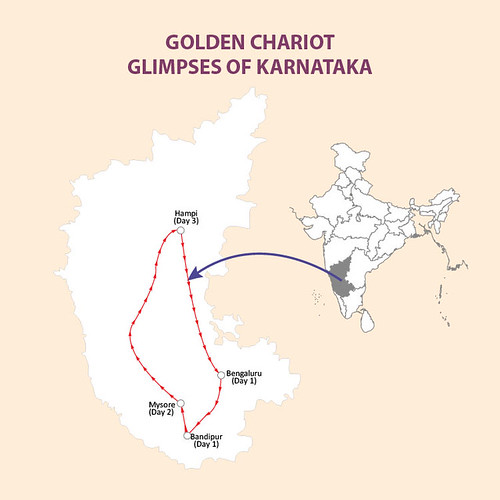 Golden Chariot Glimpses of Karnataka map