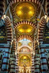 Tiger Cathedral (Tony Shertila) Tags: france po arch architecture azura boat cathedral catholic church cruise cruiseship europe interior marseilles notredame notredamegare vacation vista 20180329112846