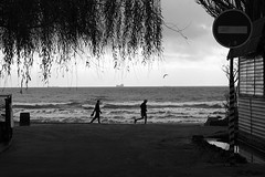 Leaving meaning (Dieversa) Tags: monochrome bw black odessa odesa seashore sea чб blackwhite sky silence