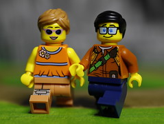 A couple out for a stroll (DayBreak.Images) Tags: tabletop toys lego minifigures canondslr canoneflens ringlight cpl