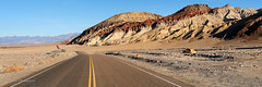 The Roadway of Death Valley (OJeffrey Photography) Tags: hills colorful textured roadway higheay road deathvalleynationalpark deathvalley california ca panorama pano ojeffrey ojeffreyphotography jeffowens nikon d850