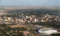 The Queen City (TigerPal) Tags: saskatchewan sask prairie plains regina aerial birdseye cessna downtown city urban stadium skycraper core capital