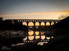 Le Pont du Gard (laudato si) Tags: « pont du gard » bridge aqueduc occitanie france french morning matin aube rivière river pontdugard aqueduct