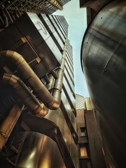 Refinery (Мaistora) Tags: architecture building business office tower skyscraper industrial futuristic insideout lloyds insurance reinsurance commercial maritime risk trading market underwriting limestreet leadenhall city cityoflondon squaremile richardrogers icon iconic mobile phone samsung galaxy s8 android app snapseed photoshop topaz ai denoise