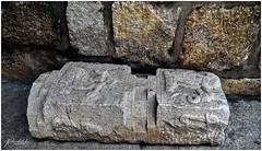 Architectural relic, part of a broken pillar (Ramalakshmi Rajan) Tags: nikon nikond750 bangalore bangalorefort architecture lifeinindia india indianarchitecture nikkor24120mm travel