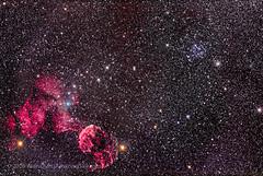M35 Cluster and IC443 Supernova Remnant in Gemini (Amazing Sky Photography) Tags: canon cr89starcluster eosra emissionnebula etageminorum gemini ic443 ic444 jellyfish lenhance m35 messier mugeminorum ngc2158 newtonian optolong sharpstar supernovaremnant hyperbolic mirrorless opencluster