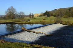 Chatsworth Park Weir (philept1) Tags: water winter england river outdoors peakdistrict derbyshire derwent countryside view weir house chatsworth