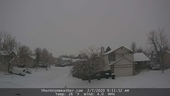February 7, 2020 - A wintry scene in Thornton. (ThorntonWeather.com)