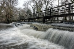 River Wey flow (James Waghorn) Tags: riverwey surrey winter river water sonyrx100m3 waterfall longexposure topazclarity lockgate weybridge england smooth nd weir explore