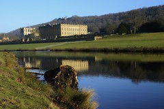 Chatsworth Park (philept1) Tags: water winter england river outdoors peakdistrict derbyshire derwent countryside view house chatsworth reflection
