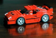 Ferrari F40 (mkk707) Tags: film 35mmfilm analog zeissikoncontarexspecial carlzeisstessar135f115mm kodakportra400 wwwmeinfilmlabde germancameras vintagefilmcamera vintagelens zeissikonstyle toy model lego