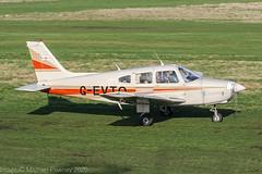 D-EVTO - 1980 build Piper PA-28-161 Cherokee Warrior II, taxiing to parking on arrival at Barton (egcc) Tags: 288016271 barton cherokee cityairport devto egcb gevto lightroom manchester n5012v n81615 pa28 pa28161 piper warrior