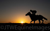 Racing - Post Racing - Sunset on a racecourse gallop (1)