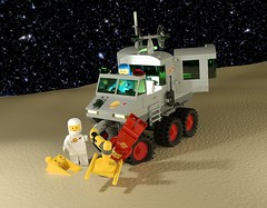 Febrovery 2020 Day 07: 6901 Mobile Lab redux (Littlepixel™) Tags: ncs neo classic space lego afol render ldraw rover moon buggy bricksmith