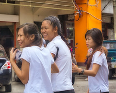 Laughter (Beegee49) Tags: street people teenagers laughing girls filipina happy planet sony a6000 bacolod city philippines asia