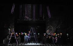 Rigoletto and masked chorus