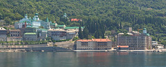 The Russian Orthodox Monastery at Mount Athos, Greece (big_jeff_leo) Tags: greek greece scene scenic sea halkidiki europe