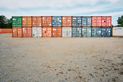 Hey Baby, Which One Is Yours? (Dysfunctional Photographer) Tags: shippingcontainers field gravel day morning sunny crates bryant arkansas 2020 usa nikon z7 nef captureone
