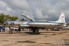 Canadair CT-133 Silver Star QR-34  (F-AYMD) (Sam Wise) Tags: france melun warbird classicjet shooting airshow star fighter canadair paris french moranesaulnier trainer saulnier t33 morane ms406 silver villaroche ct133