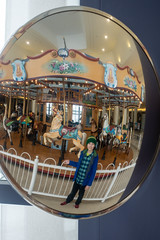 Billy and the carousel (unit2345) Tags: chapelhillmall cuyahogafalls ohio mall billy
