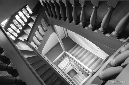 Elegant double stairway - Château de Vaux-le-Vicomte (Maincy/FR)