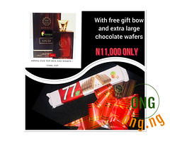 ABRAAJ OUD PERFUME+GIFT BOW+ EXTRA LARGE CHOCOLATE WAFERS (omoresther2008) Tags: olx nigeria olxnigeria nig abuja lagos phones sell buy online